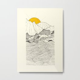 The land and the sea Metal Print