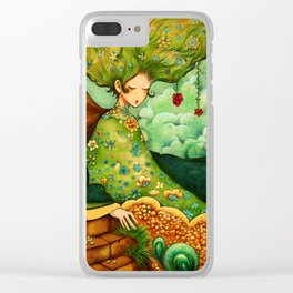 Flower Tree Clear iPhone Case