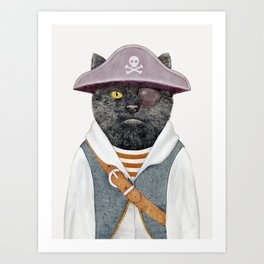 Pirate Cat Art Print