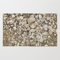 nicki Area & Throw Rugs featuring Shell Cluster by Nicki Klepper