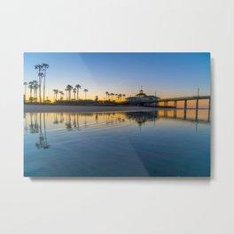 Wet Sand Sunrise Metal Print