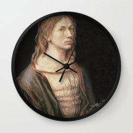 Albrecht Durer - Self Portrait With A Thistle Wall Clock