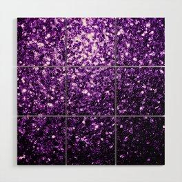 Beautiful Dark Purple glitter sparkles Wood Wall Art