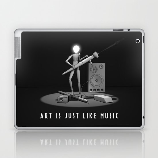 art is just like music Laptop & iPad Skin