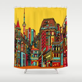 Sound of the city Shower Curtain