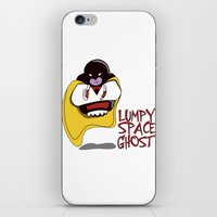 lumpy space princess iPhone & iPod Skins featuring Lumpy Space Ghost by The Geekerie