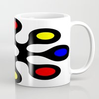 old school Mugs featuring Old School by Nancy Smith