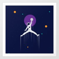 nba Art Prints featuring NBA Space by Tony Vazquez