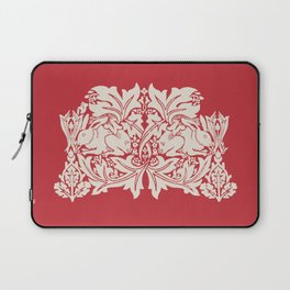 William Morris Style Victorian Christmas Bunnies Laptop Sleeve