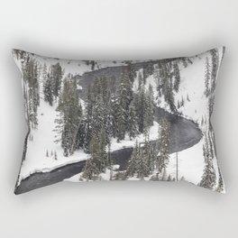 Yellowstone National Park - Lewis River 2 Rectangular Pillow