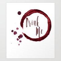 Drink Me Art Print