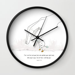 Don´t fear God is with you .REformas.  Wall Clock