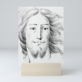 Christ sketch by Jean Bernard Mini Art Print
