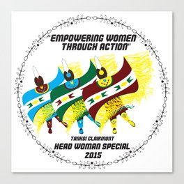 """Empowering Women Through Action"" Canvas Print"