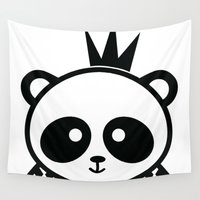 prince Wall Tapestries featuring Panda Prince by Inkroyable