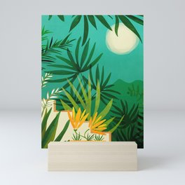Exotic Garden Nightscape / Tropical Night Series #2 Mini Art Print