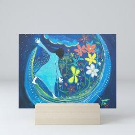 Inside of blue | Yuko Nagamori Mini Art Print