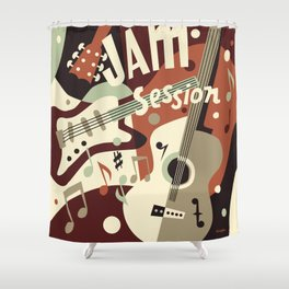 Guitar Music abstract Shower Curtain