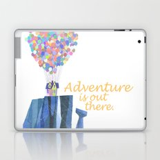 adventure is out there.. cursive Laptop & iPad Skin