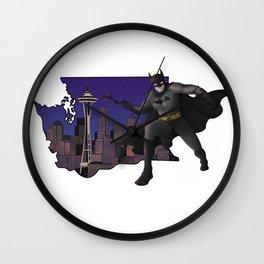 The Bat visits Seattle Wall Clock