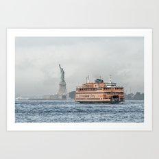 Ferry & Liberty Art Print