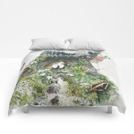 Cat in the Garden of Your Mind Comforters