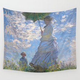 1875-Claude Monet-Woman with a Parasol - Madame Monet and Her Son-81 x 100 Wall Tapestry