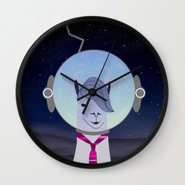 Unique Lama Astronaut Design Wall Clock