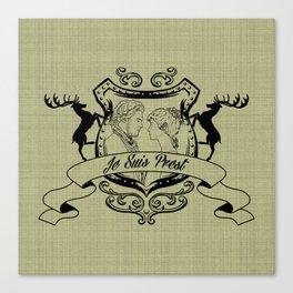 Outlander Je Suis Prest linen Canvas Print