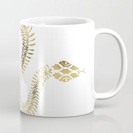 Snake Skeleton – Gold Coffee Mug