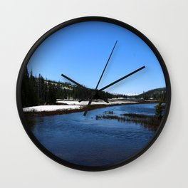 Snake River In June 2017 Wall Clock