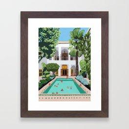 Marrakech Riad Framed Art Print