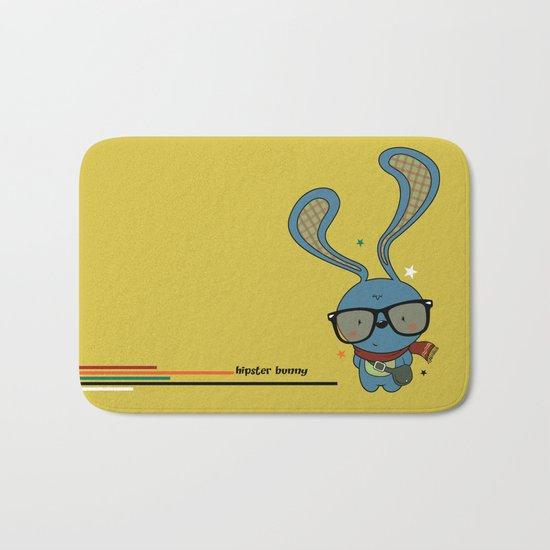 Hipster bunny Bath Mat