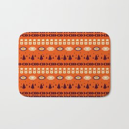 Holiday pattern with Christmas trees Bath Mat