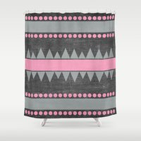 aztec Shower Curtains featuring Aztec by her art