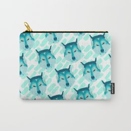 husky - wht pattern Carry-All Pouch