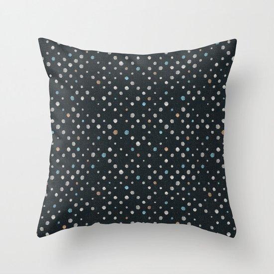 LOTS OF DOTS / black / linen beige / light blue / rose beige Throw Pillow by DANIEL COULMANN ...
