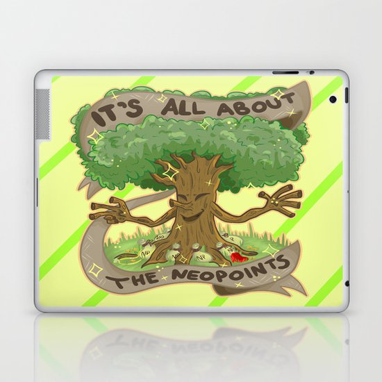 Throw Pillow Neopets : The Money Tree Laptop & iPad Skin by Olivia Dierker Society6