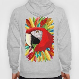 Macaw Parrot Paper Craft Digital Art Hoody