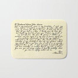 Alexander Hamilton Letter to John Laurens Bath Mat