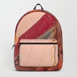 Red Boat Hull Wooden Boats Fishing Fisherman Seafood Painted Wood Vintage Weathered Nautical Beach O Backpack