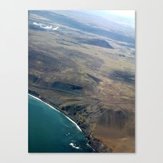 Iceland From Air Canvas Print
