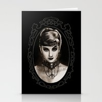 audrey Stationery Cards featuring Audrey  by Isaiah K. Stephens