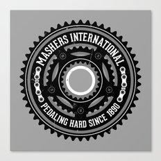 Mashers International (light grey) Canvas Print