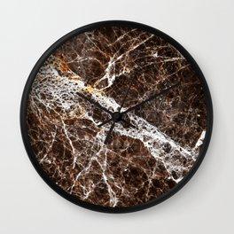 Brown Marble Wall Clock