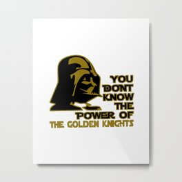 The Power of the Golden Knights Metal Print