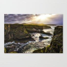 Light on the Cliffs Canvas Print