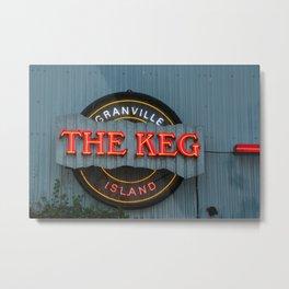 The Keg Metal Print