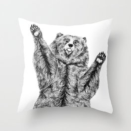 Bears just want hugs Throw Pillow