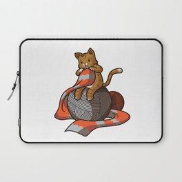 Knitting Kitten | Cat Lover Kittens Purr Laptop Sleeve